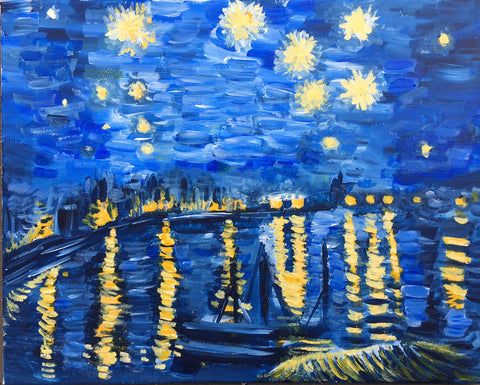 Van Gogh Paint Night:The Starry Night Over the Rhone