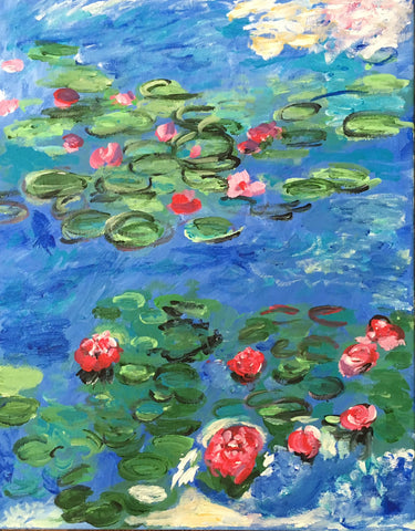 Monet's Red Lilies