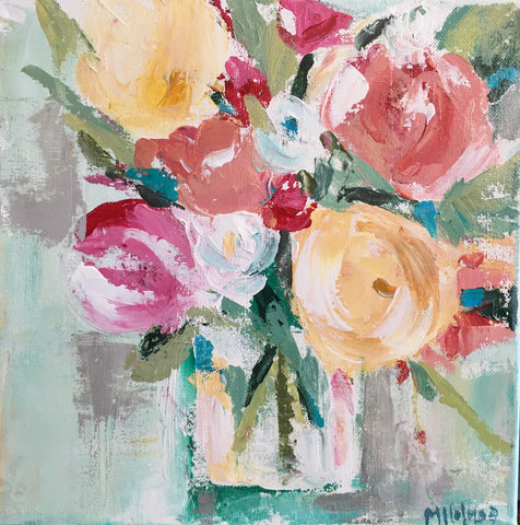 Palette Knife Floral Painting with Maggie Holmes