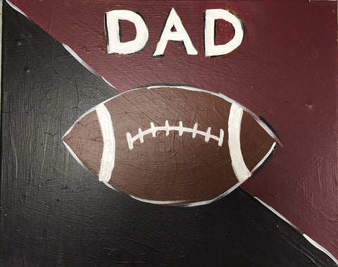 Mini Picasso: Father's Day Football Painting