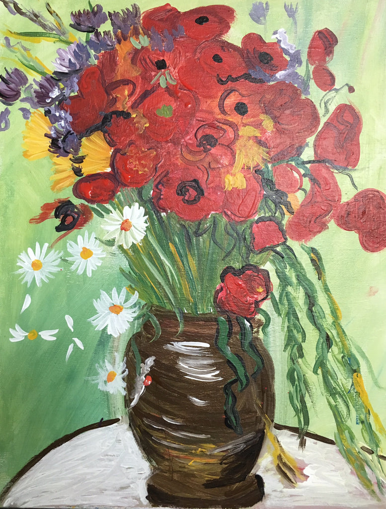 Vincent Van Gogh Red Poppies And Daisies Adult Art Classes Kids