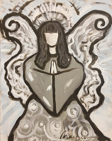 Grey Angel Painting