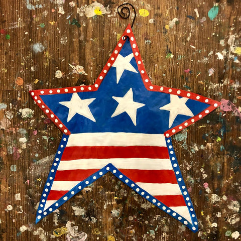 TAKE-HOME Star-Spangled Star Doorhanger 22""