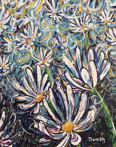 Abstract Daisies