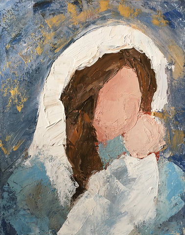 Mother and Child, a Palette Knife Painting Class