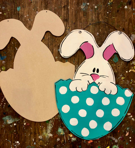 TAKE-HOME Bunny in Egg Doorhanger 22""