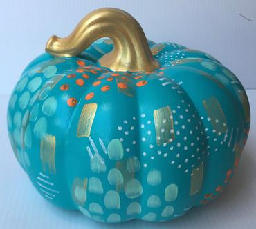 Painted Ceramic Pumpkins