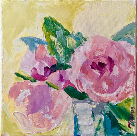 Floral Palette Knife Painting Class