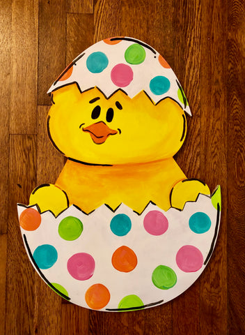 Mom & Kids:  Easter Doorhangers