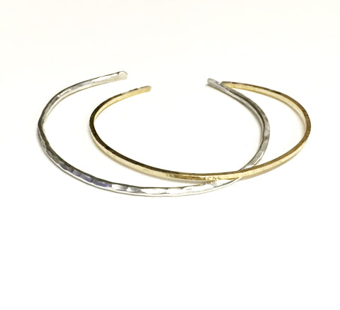 Hammered Stack Bangles