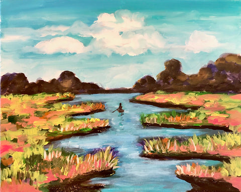 """Where the Crawdads Sing"" Marsh Painting"