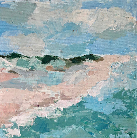Beach Scene Palette Knife Painting Class