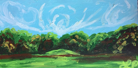 Green and Blue Landscape