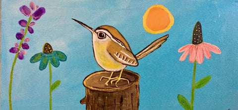 Whimsical Carolina Wren