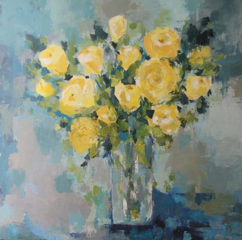 Palette Knife Floral Workshop: Yellow Roses with Maggie Holmes