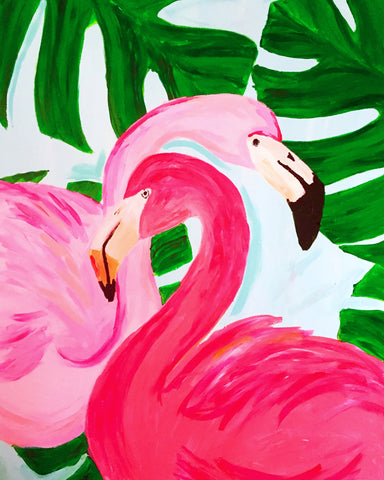 Megan Carn Flamingle Paint Night