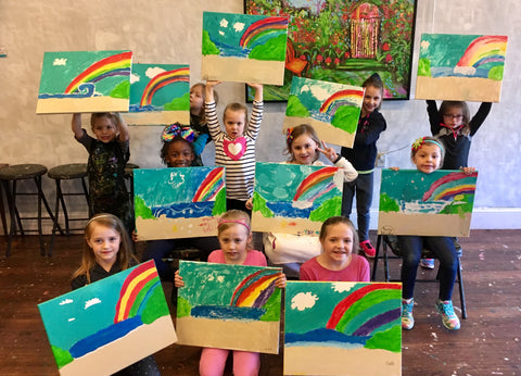 Presidents' Day Kids Class: Rainbows and Beaches