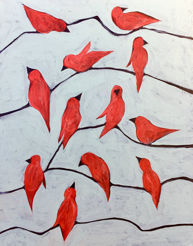 Red Birds On A Wire