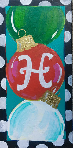 Initial Ornament Door Hanger