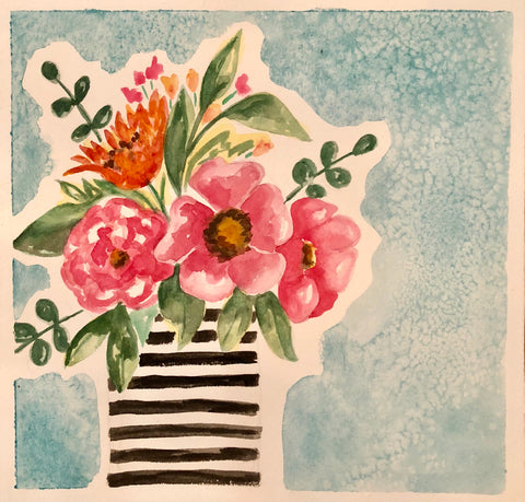 Fun Florals in Watercolor with Suanne