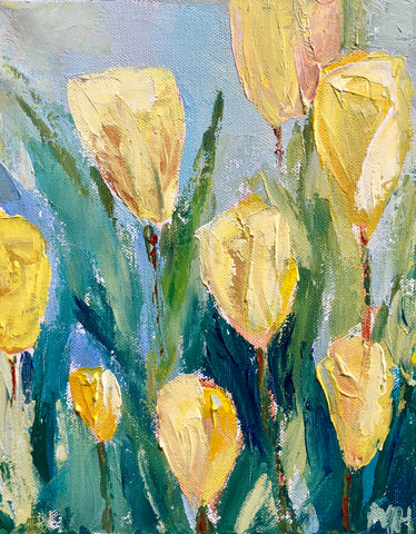 "Virtual ""Tulip Fields"" Palette Knife Painting"