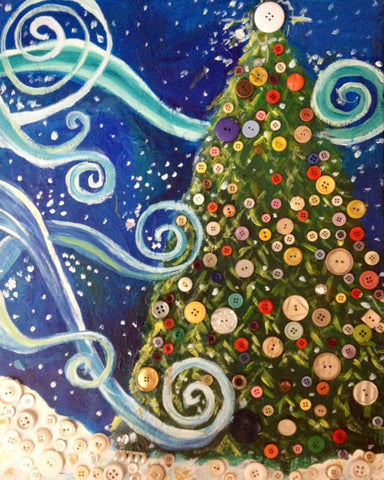 Kids Class: Mixed Media Christmas Tree - FULL