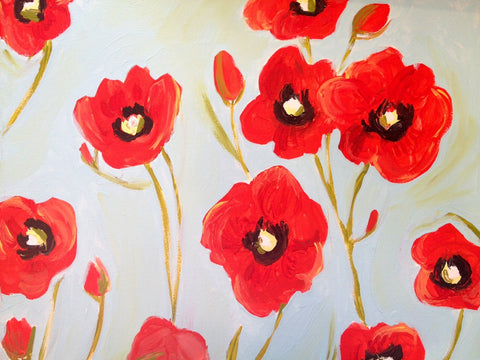 November Red Poppies