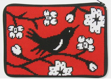 Needlepoint Class: Blackbird Purse