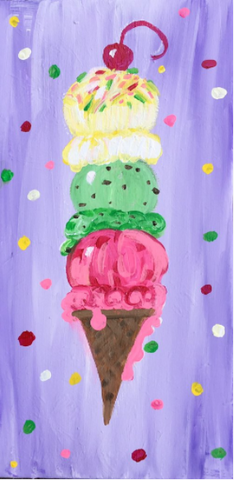 Presidents' Day Kids Class: Triple Scoop Ice Cream Cone