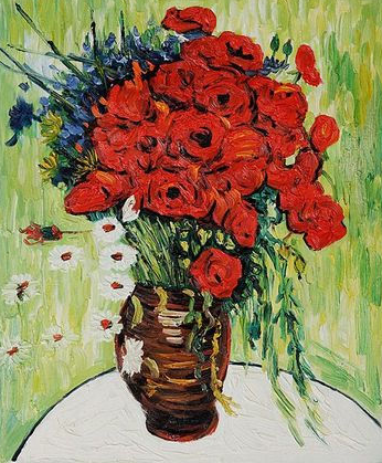 Vincent van Gogh Red Poppies and Daisies