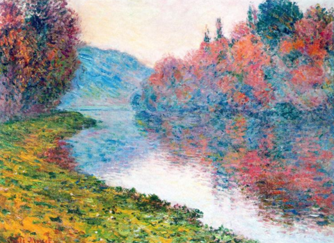 Monet's Banks Of The Seine At Jenfosse - Clear Weather