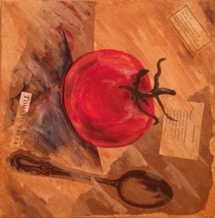 Tomato Mixed Media Paint Night at Swamp Rabbit Grocery