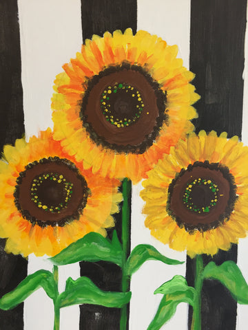 Striped Sunflowers