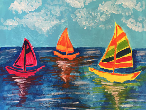 Bright Sailboats