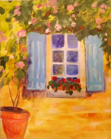 A Window and Flowers