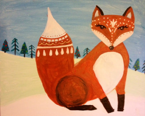 Kids Winter Fox
