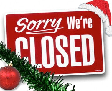 Closed for Christmas 12.27.14