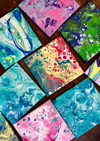 FIRST FRIDAY:  Acrylic Pouring Painting