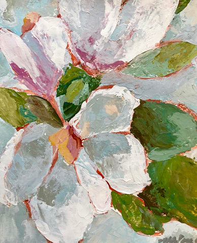 """Magnolia"" A Palette Knife Painting Class"