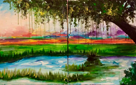 """Lowcountry Marsh"" Couples Paint Class"
