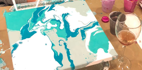 January Acrylic Pouring Paint Class