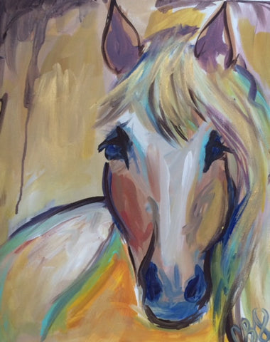 Big Girls Paint Night - Horsing Around