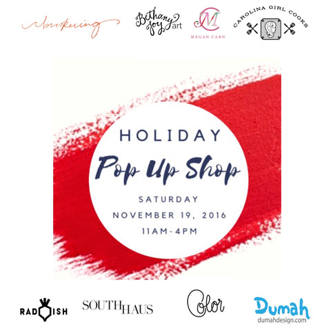 Holiday Pop Up Shop 11.19.16