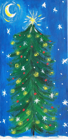 Starry Night Christmas Tree