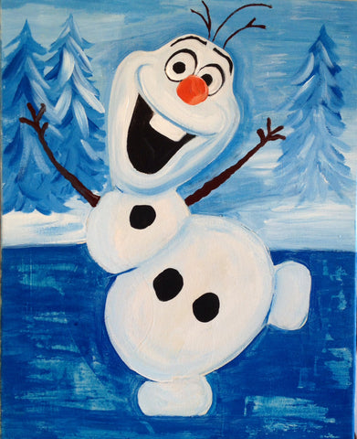 Kids Art: Olaf from Frozen