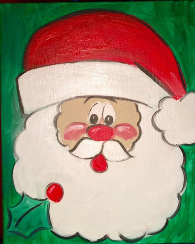 Kids Art: Holiday Santa