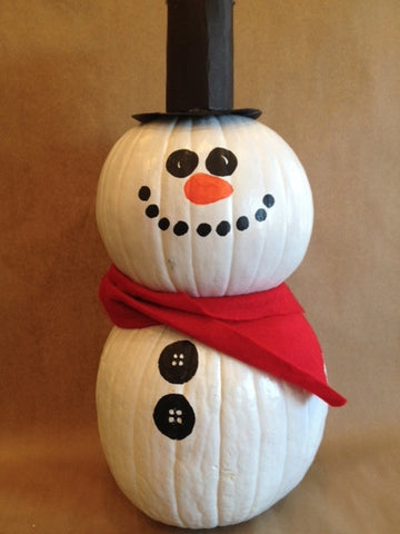 Big Kids Art: Pumpkin Snowman