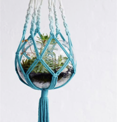 Dip Dyed Macrame Plant Holder