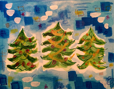 Watercolor Christmas Tree