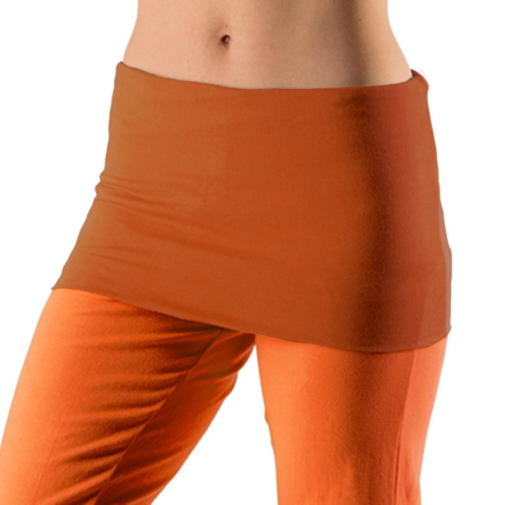 Bi Colour Cropped Fold Over Harem Pants - Gossypium